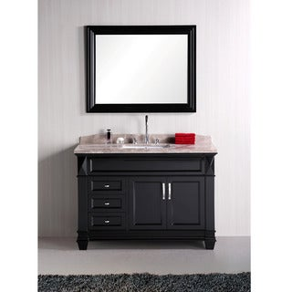 Design Element Hudson 48-inch Single Sink Marble Top Bathroom Vanity Set