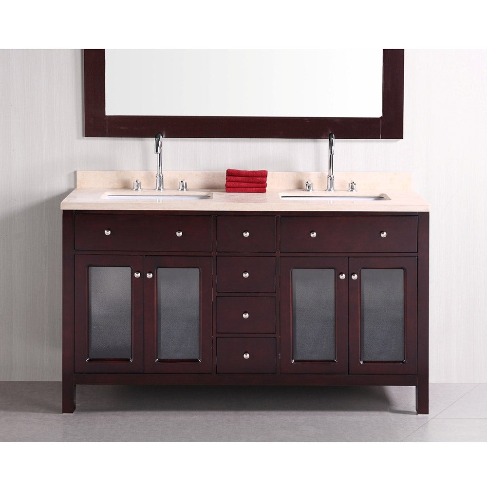 60 Inch Double Sink Bathroom Vanity also Double Sink Bathroom Vanities