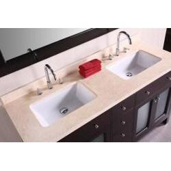 Design Element Venetian 60-inch Double Sink Bathroom Vanity
