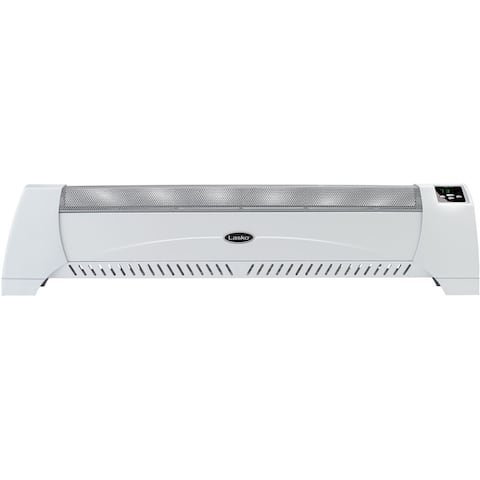 Lasko Baseboard Heater Convection 39-11/16 in. L 12.5 amps 1,500 watts 120 volts White