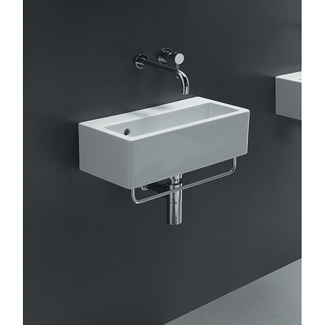 Bissonnet White Ceramic Sink