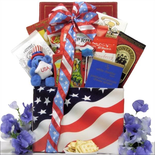 Great Arrivals American Pride Patriotic 4th of July Gourmet Gift Basket