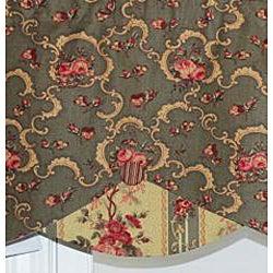 RLF Home Oregano Cotton 17-inch Ravistock Petite Valance - Thumbnail 1