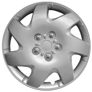 Silver kT102616S_L Design ABS 16-inch Hub Caps (Set of 4)