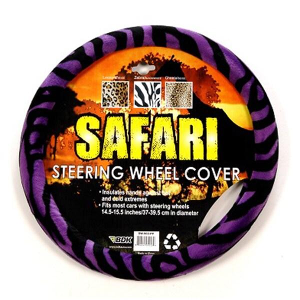 Oxgord Safari Purple and Black Zebra Steering Wheel Cover