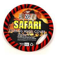 Oxgord Safari Red and Black Zebra Steering Wheel Cover