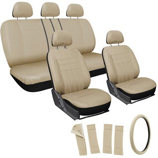 Oxgord Beige 17-piece Universal Fit Car Seat Cover Set