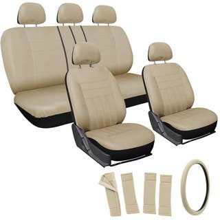 Oxgord Beige 17 Piece Universal Fit Car Seat Cover Set