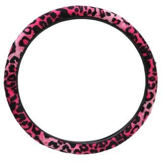 Leopard Animal Print Pink/ Black Car, SUV, Truck, and Van Universal Steering Wheel Cover