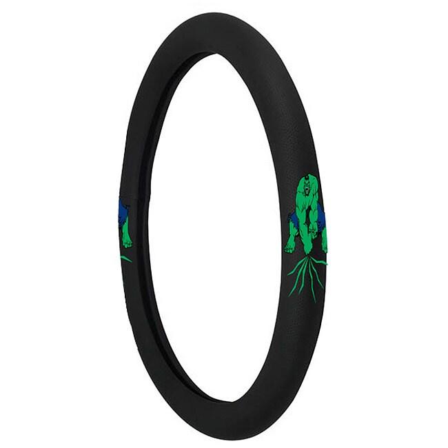 Black Rubberized Hulk Steering Wheel Cover