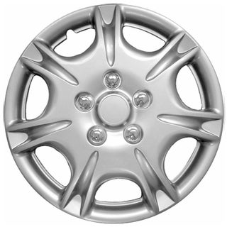 Silver kT102915S_L Design ABS 15-inch Hub Caps (Set of 4)