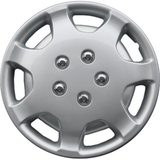Silver kT86314S_L Design ABS 14-inch Hub Caps (Set of 4)