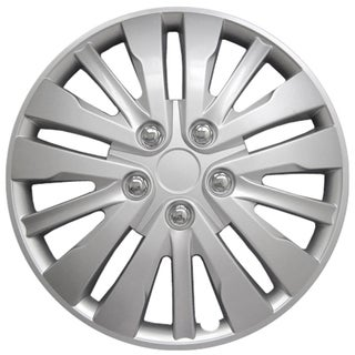 Silver kT102816S_L Design 16-inch ABS Hub Caps (Set of 4)