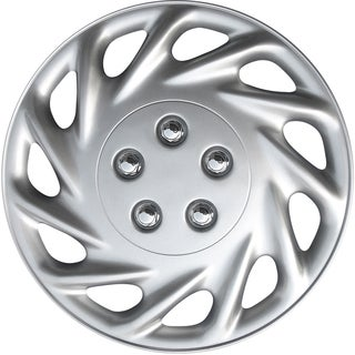 Silver kT85817S-L Design 17-inch ABS Hub Caps (Set of 4)