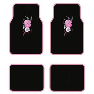 Hawaii Pink 4-piece Carpet Floot Mat Set