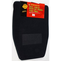 Black 3-piece Carpet Floor Mats