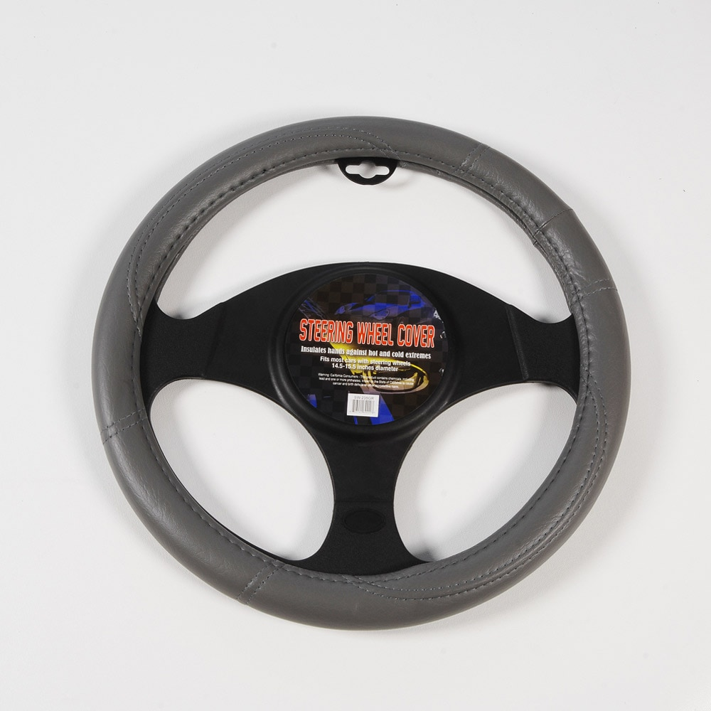 Grey Performance Grip Steering Wheel Cover - Thumbnail 0