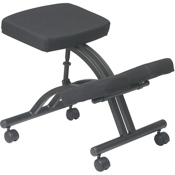 office star ergonomically designed knee chair with casters and