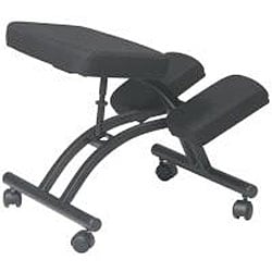 Office Star Ergonomically Designed Knee Chair with Casters and Memory Foam - Thumbnail 1