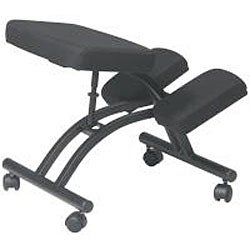 Office Star Ergonomically Designed Knee Chair with Casters and Memory Foam