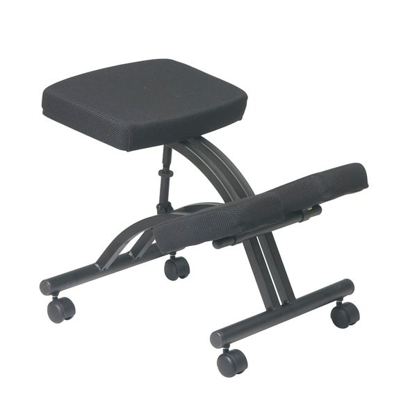 Office Star Ergonomically Designed Knee Chair with Casters and Memory Foam. Opens flyout.