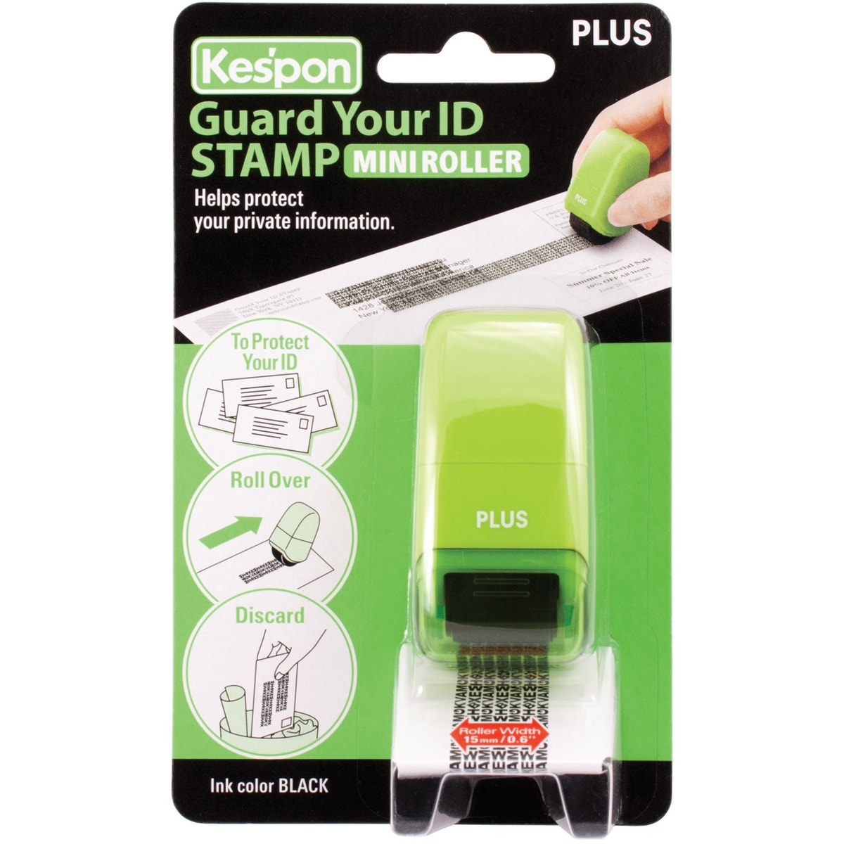 Guard Your ID Mini Roller 1/Pkg-Green