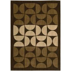 "Nourison Home Metropolitan Geometric Brown Rug - 3'6"" x 5'6"""