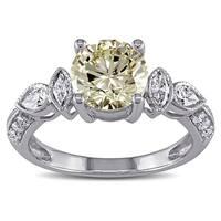 Miadora 14k Gold 2 1/3ct TDW Certified Vintage Diamond Ring