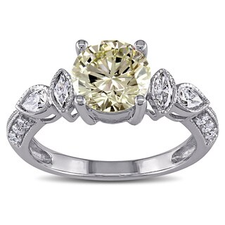 Miadora 14k Gold 2 1/3ct TDW Certified Vintage Diamond Ring