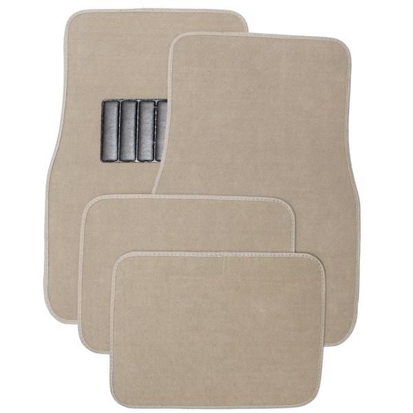Oxgord car floor mat tan carpet 4 piece front and rear set for 1 piece floor mats trucks