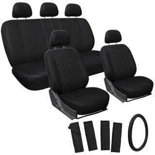 OxGord Black 17-piece Car Seat Cover Automotive Set