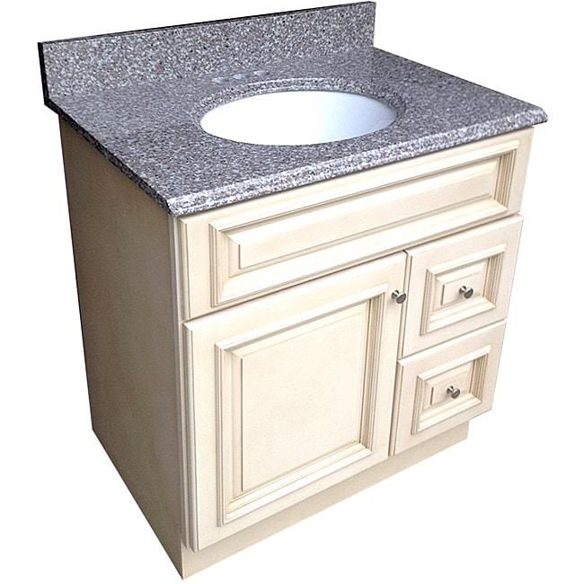 Tuscany Majestic Mauve Granite Top Vanity Cabinet
