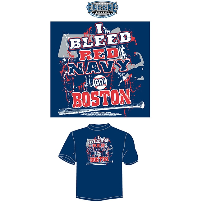 Boston Baseball Men's 'I Bleed Red and Navy' T-shirt