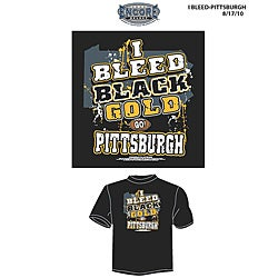 Pittsburgh Football Men's 'I Bleed Black and Gold' T-shirt
