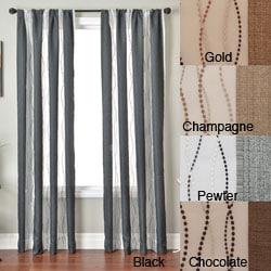 Vastitude Stripe Rod Pocket 96-inch Curtain Panel