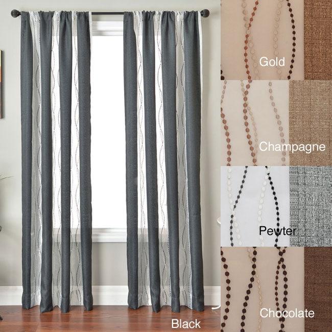 Softline Vastitude Stripe Rod Pocket 84 Inch Curtain Panel 50 X 84 Free Shipping Today