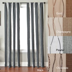 Vastitude Stripe Rod Pocket 84-inch Curtain Panel