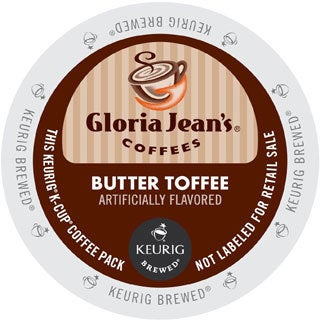 Gloria Jean's Coffees, Butter Toffee, K-Cup for Keurig Brewers