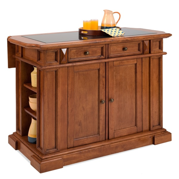 Home Styles   Kitchen Island Black And Distressed Oak Finish