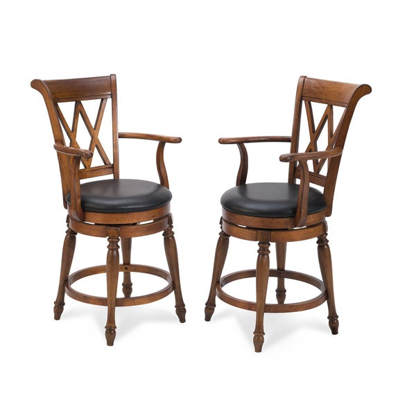 Distressed Cottage Oak Deluxe Bar Stool