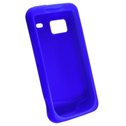 INSTEN Dark Blue Silicone Skin Phone Case Cover for HTC Droid Incredible - Thumbnail 1