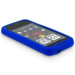 INSTEN Dark Blue Silicone Skin Phone Case Cover for HTC Droid Incredible - Thumbnail 2