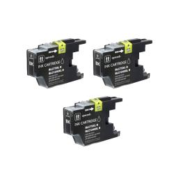Brother LC75 Compatible Black Ink Cartrdige (Pack of 3)