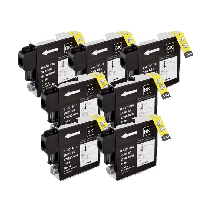 Brother LC61 Compatible Black Ink Cartridge (Pack of 7) - Thumbnail 0