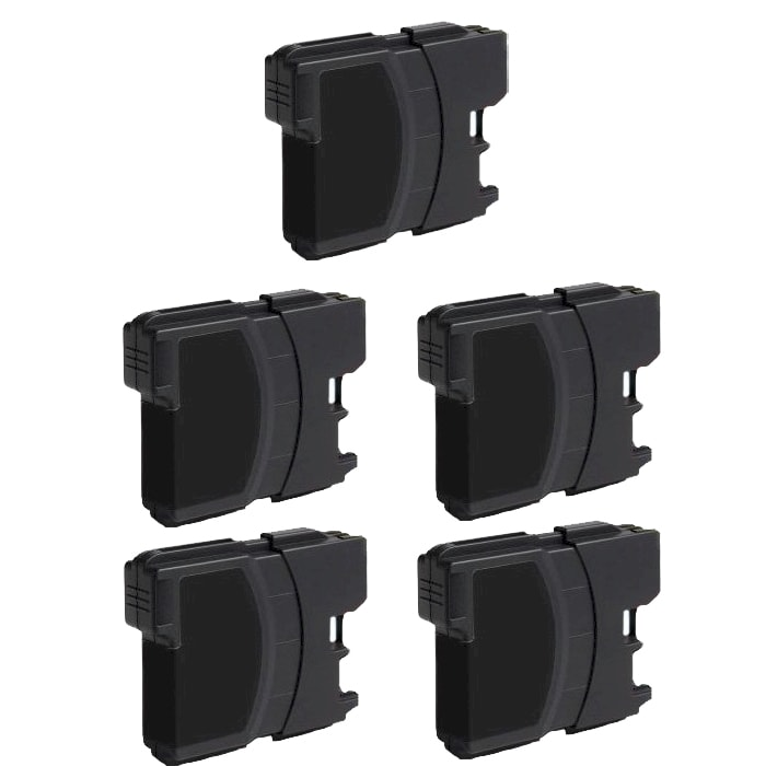 Brother LC61 Compatible Black Ink Cartridge (Pack of 5)
