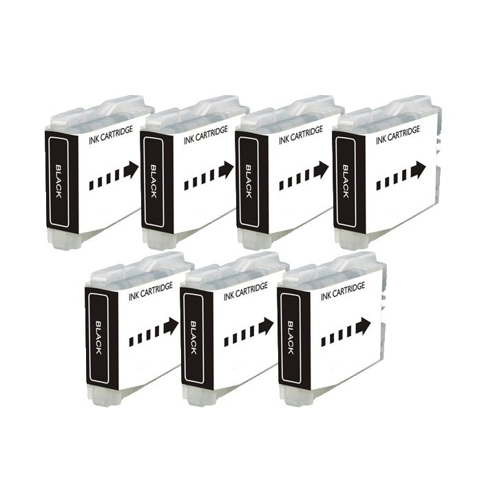 Brother LC51 Compatible Black Ink Cartridge (Pack of 7) - Thumbnail 0