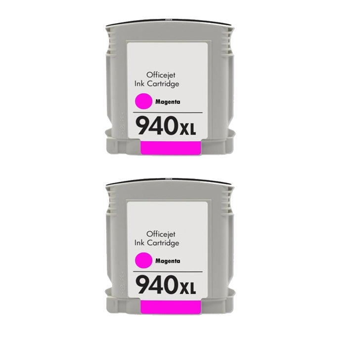 Hewlett Packard 940XL Magenta Ink Cartridges (Pack of 2) (Remanufactured)