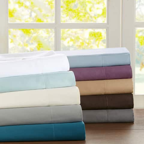 Sleep Philosophy and Liquid Pima Cotton 300 Thread Count Bed Sheet Set with Optional Pillowcase Separates