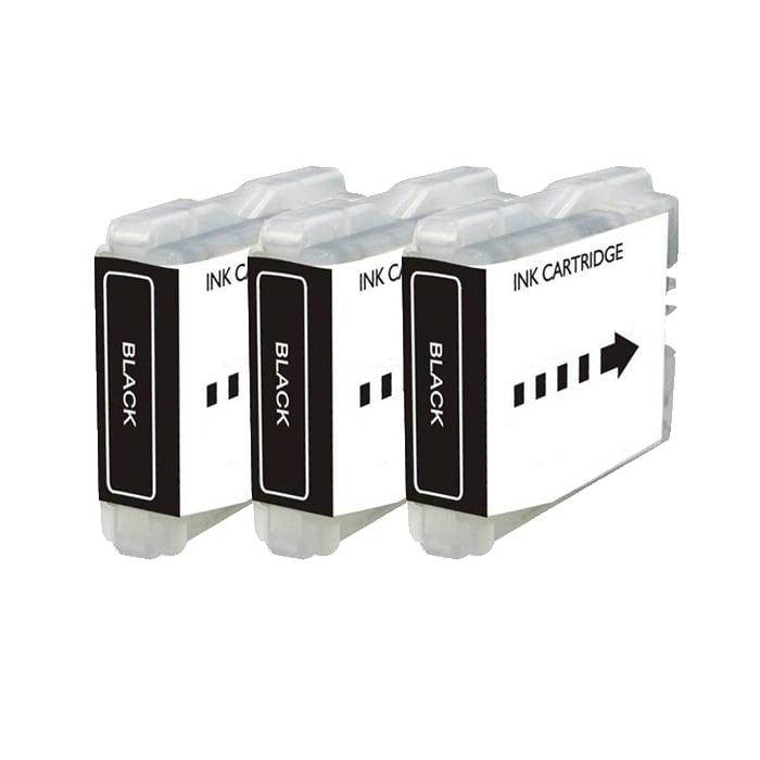 Brother LC51 Compatible Black Ink Cartridge (Pack of 3)