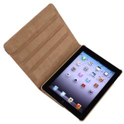 Brown Leopard 360-degree Swivel Leather Case for Apple iPad 2/ 3/ 4 - Thumbnail 1